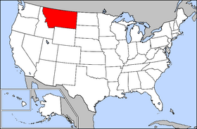Map of the U.S. with Montana highlighted