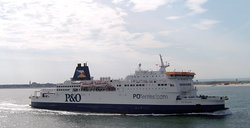 The Pride of Burgundy, a P&O Ferries car ferry on the Dover-Calais route